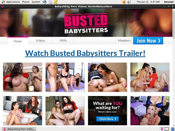 Busted Babysitters サイン アップ