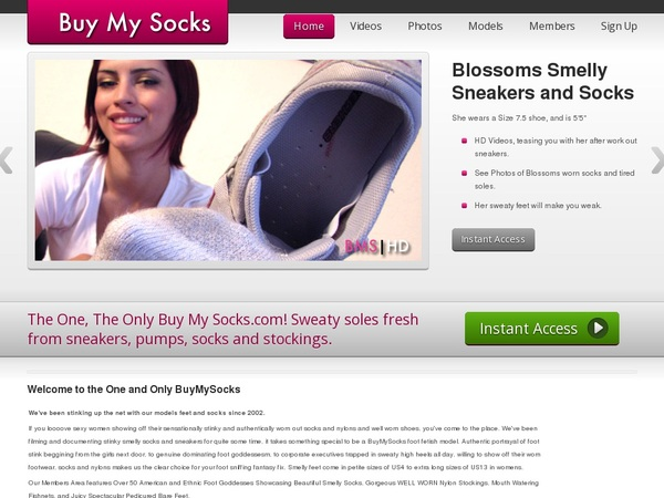 Buymysocks.com With Bank Account