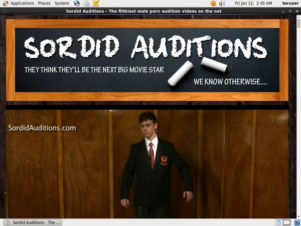 Sordidauditions.com Accounts Passwords