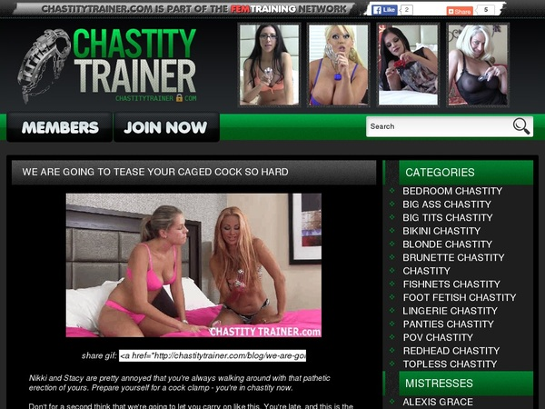 Chastity Trainer Promos